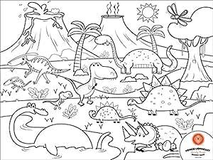 PRINCE LIONHEART Colour&Draw Dino Set de Table à Colorier