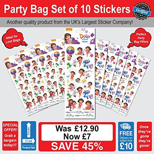 Dora The Explorer Stickers Party Bag Set of 10