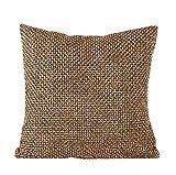 Yistu Pillow Case ,Luxury Creative Soft Sofa Bed Home Decor Pillow Case (45cm*45cm, Coffee)