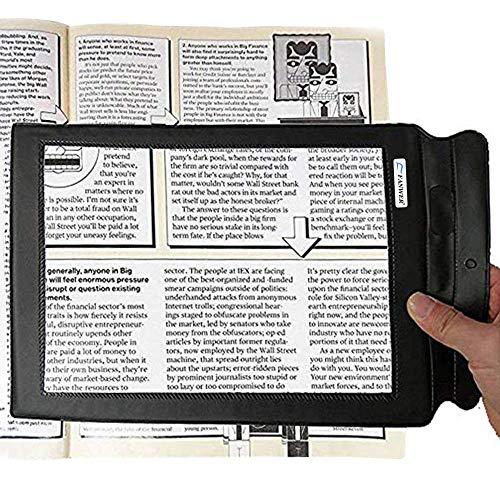 Lupa de hoja grande con 3 aumentos, tamaño de página portátil para lectura de libros, periódicos para usar como ayuda de baja visión, tamaño A4