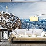 murando - Vlies Fototapete 500x280 cm - Vlies Tapete - Moderne Wanddeko - Design Tapete - Landschaft Natur Gebirge Winter Kreuz c-B-0087-a-a
