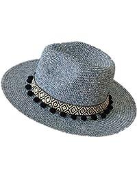 WFYJY Sombrero Ocio Sombrero de Paja Sombrero de Bombín British Retro Jazz Sombrero Protector Solar Sombrero para el Sol C