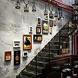 Unbekannt 15 Multi Bilderrahmen Set Vintage Industrial Style Kreative Home Wand Anhänger Bilderrahmen Hintergrund Wand Foto Wand @The Harvest Season (Farbe : B)