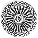 Marokkanischer Teller Schwarz 22cm | bunte marokkanische Keramik Teller bunt aus Marokko | Große Keramikschalen flach Geschirr aus dem Orient handbemalt