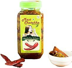Mast Chatakha Homemade Lal Mirchi ka Achaar, 500 Grams