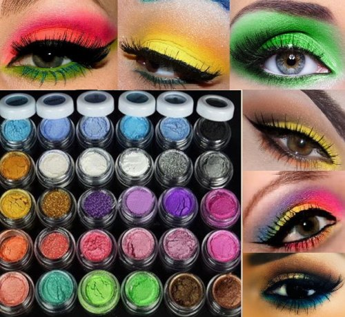 30 Couleurs Fard à Paupières Eyeshadow Poudre Glitter Paillette Ombre Yeux Beauty Makeup Shimmer Eyeshadow