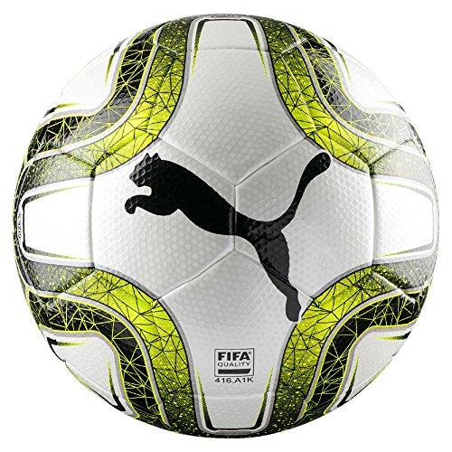 PUMA FINAL 3 Tournament (FIFA Quality) Fußball, White-Lemon Tonic Black, 5 (Ball Fußball Puma)