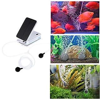 AOZBZ Solar Panel Powered Teich Luftpumpe Oxygenator Teichbelüfter Teichpumpe Wasserpumpe für Garten Fisch Tank Pool