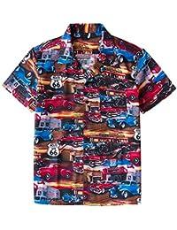 236022ee128 ... Beachwear Casual Hawaiian Batik Donut Print Button Down Collar… EUR  28