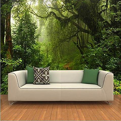 Cunguang Custom 3D-Urwald Wandbild Fototapete Landschaft für Wände 3D Raum Landschaft Wand Papier für Wohnzimmer Home Decor