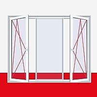 Kunststofffenster Badfenster Ornament Delta Weiss Dreh//Kipp BxH:600x800 Anschlag:DIN Rechts Glas:3-Fach