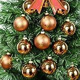 NewDreamWorld 12Stück Hängende Dekoration Glas Orb Kugeln für Urlaub Weihnachtsbaum Geschenke Bronze