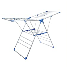 SAIGAN Tom Steel Floor Cloth Drying Stand - Epoxy Powder Coating for Longer Life, Strong Tubular Construction, Standard Size