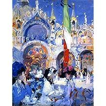 ODSAN Florians Cafe, Venice - By Francis Campbell Bolleau (F.C.B.) Cadell - impressions sur toile 20x26 pouces - sans cadre