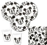 75 Teile Disney Micky Maus Sketch Party Deko Set für 25 Personen
