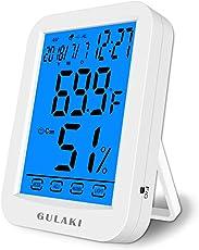 GULAKI Thermometer Hygrometer digital, Thermo-Hygrometer Raumklimakontrolle