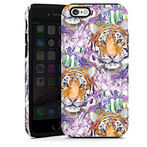 Apple iPhone 5s Housse Étui Protection Coque Tigre Chat Motif Cas Tough terne