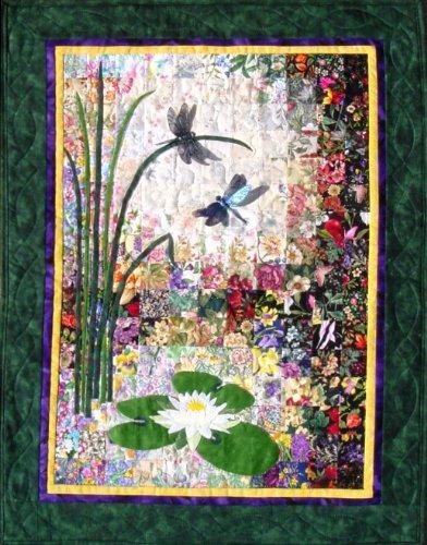 Whims Aquarell Quilt-Set Libellen und Lilypads - Quilt-set