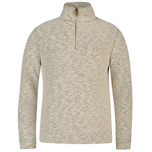 ocean-pacific-herren-waffle-sweatshirt-langarm-stehkragen-pullover-1-4-zip-off-weiss-large