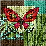 Dimensions Kit Canevas, Impression Papillon
