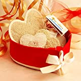 Cesto Cuore di Luffa - Idea regalo San Valentino - Originale, artigianale, fatto a mano in Italia