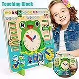 """Orologio didattico educativo, orologio da 12 """"dimostrativo di apprendimento, impara a leggere il tempo Meteo Stagione Orologio didattico, regalo di apprendimento precoce per bambini dai 3 ai 10 anni"""