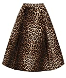 Hell Bunny Panthera Leopardenmuster Kreis 50s Jahre Rock - Braun, UK 18 (2XL)