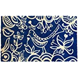 Bombay Duck 100 Percent Natural Coir Bird of Feather Door Mat, Blue