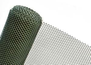 RO15/100HD gros filet en plastique pour clôture de jardin à mailles 15 mm 1 m de large/vert foncé en plastique