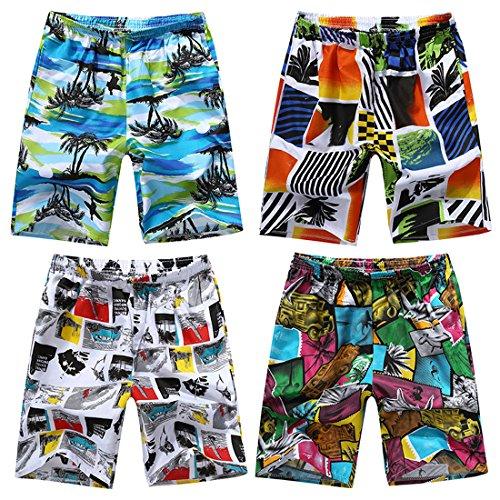 Honeystore Herren Strand Shorts Schnell Trocknend Schwimmhose Surfen Shorts Sommer Boardshorts HS10