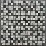 Mosaik Matte 30x30 Naturstein Marmor Fliesen Grau Schwarz Weiss Bad Dusche