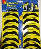 FDC Pack Of 12 Assorted Mexican Moustaches Fancy Dress Costume Accessory Bandit Style