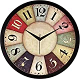 Best Bedroom Furnitures - IT2M 11.75 inches Designer Round Wall Clock Review
