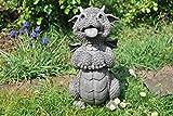 Dragon de jardin amusant–mendie comme un chien–Dragon Figurine de jardin