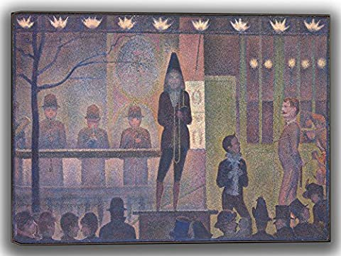 Georges Seurat: Circus Sideshow. Fine Art Canvas (30 x 20 Inches)