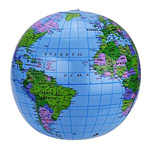 Global 2 pack 16 inches inflatable globe world globe for teaching global 2 pack 16 inches inflatable globe world globe for teaching learning playing and gumiabroncs Images