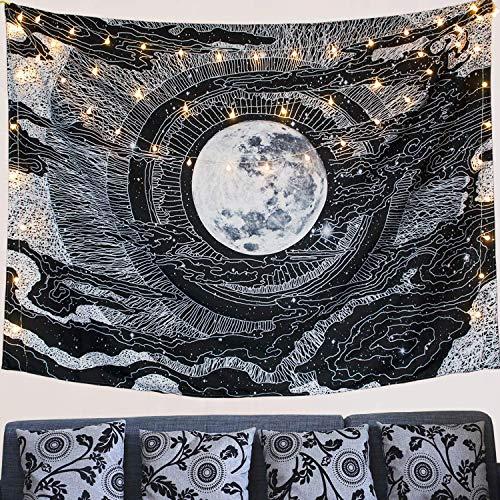 Dremisland Luna y Estrella Tapiz de Pared Mandala Colgar en la Pared T
