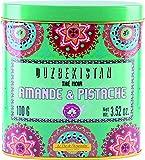 Terre d'Oc - Schwarzer Bio Tee mit Aromen von Mandeln, Pistazien und Aprikosen (Thé Noir Ouzbekistan amande & pistace) in dekorativer Metalldose 100 g