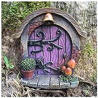 Porta in miniatura per folletti, elfi e fate, decorazione da giardino, 7 cm