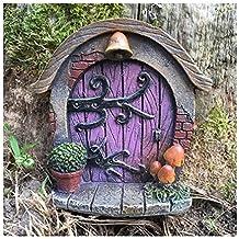 Decoración para árbol de jardín, diseño de en forma de puerta de duende, elfo