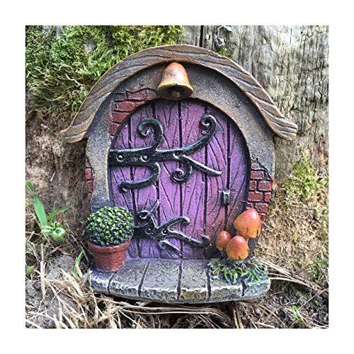 Decoración para árbol de jardín, diseño de en forma de puerta de duende, elfo o hada, accesorio extravagante y divertido, 7 cm de alto