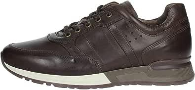 Nero Giardini A901190U Neopolis T. Moro Sneakers Stringate per Uomo in Pelle Testa di Moro