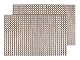 Alsino Platzset abwaschbar 2 Stück Edel Kunststoff Tischsets Platzset 30 cm x 45 cm Küchenuntersetzer Küchendeko Dekoration, Variante wählen:TS-61 braun grau metallic