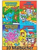 Libetui 10 Malbücher mini Malbuch Größe b6 17,6 x 12,5 cm Mitgebsel Kinderparty Hochzeit Geschenk Kindergeburtstag - vier Motive