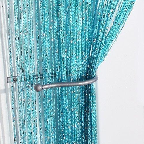 Tenda a pannello con fili brillantini jazz - 100%, blu