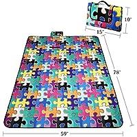 RoryTory vari design pieghevole Outdoor in pile coperta da picnic impermeabile mat