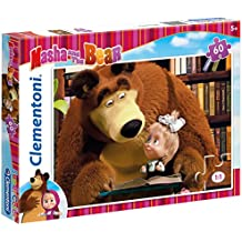 Clementoni - Puzzle Masha and the Bear, 60 piezas (260478)