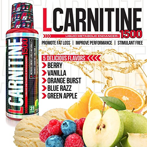 61lkPZws5TL. SS500  - Pro Supps L-Carnitine 1500 Diet Supplement, Berry, 16 Fluid Ounce