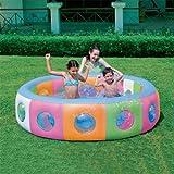 196cm Planschbecken Schwimmbecken Kinderpool Pool Swimmingpool Badespaß Spaßpool