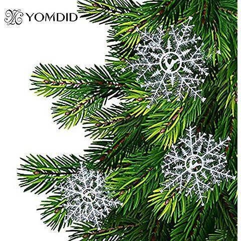 Valoxin(TM) Creativas del copo de nieve Adornos colgantes 3 Tama?os de Navidad ¨¢rbol de Navidad dise?o de los ciervos hogar al aire libre Decoraci¨®n Copo de Nieve